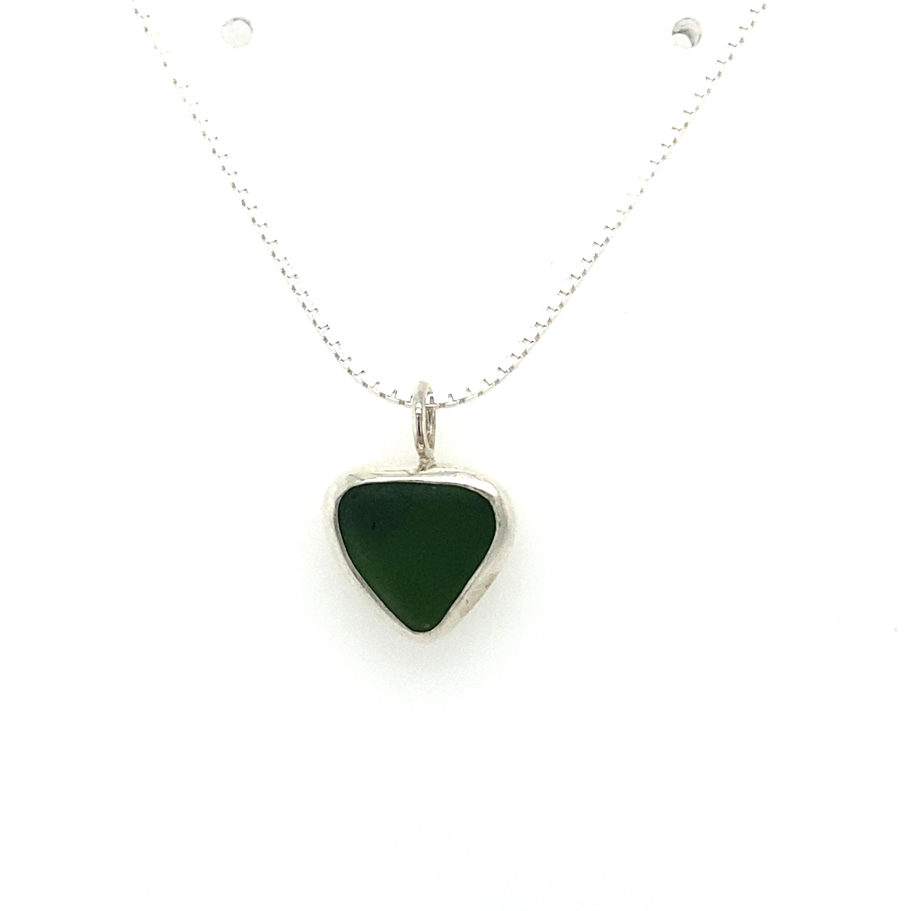 Silver Sea Glass Necklace