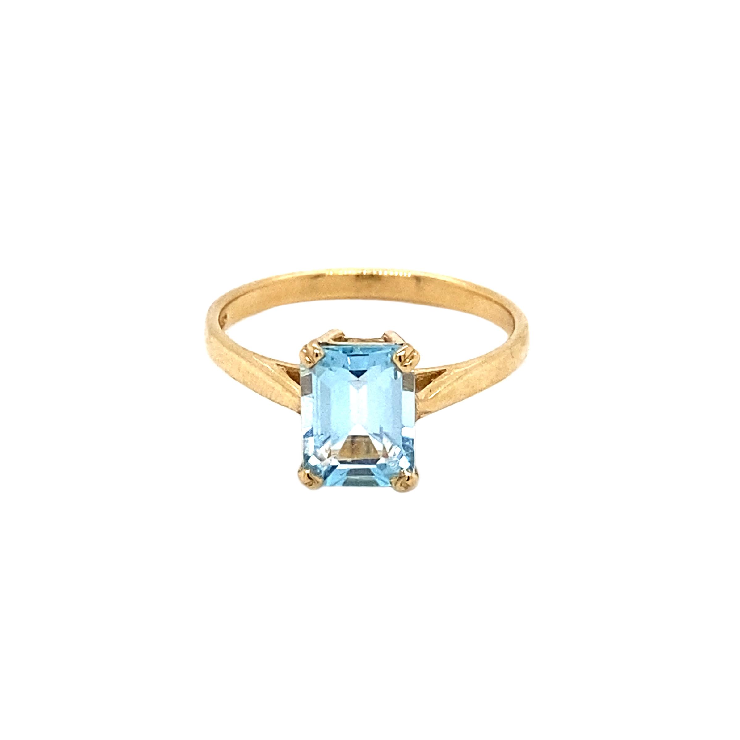 Sky Blue Topaz Dress Ring