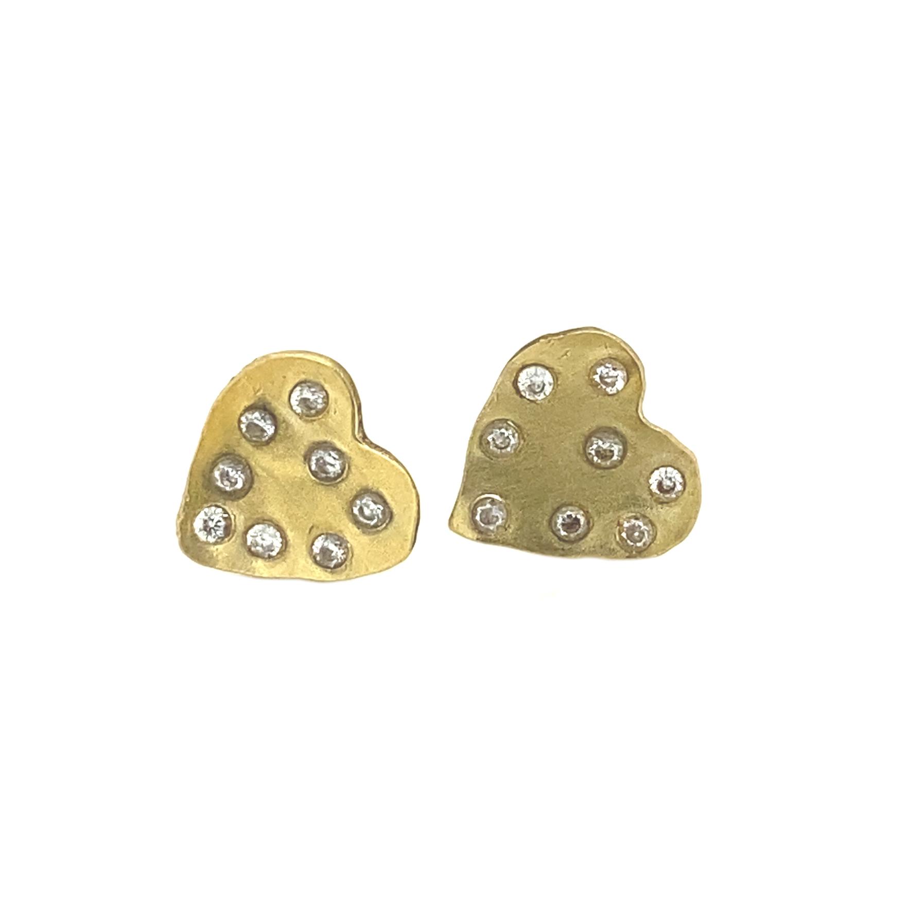 HEART WITH LOTS OF DIAMONDS EARRINGS
