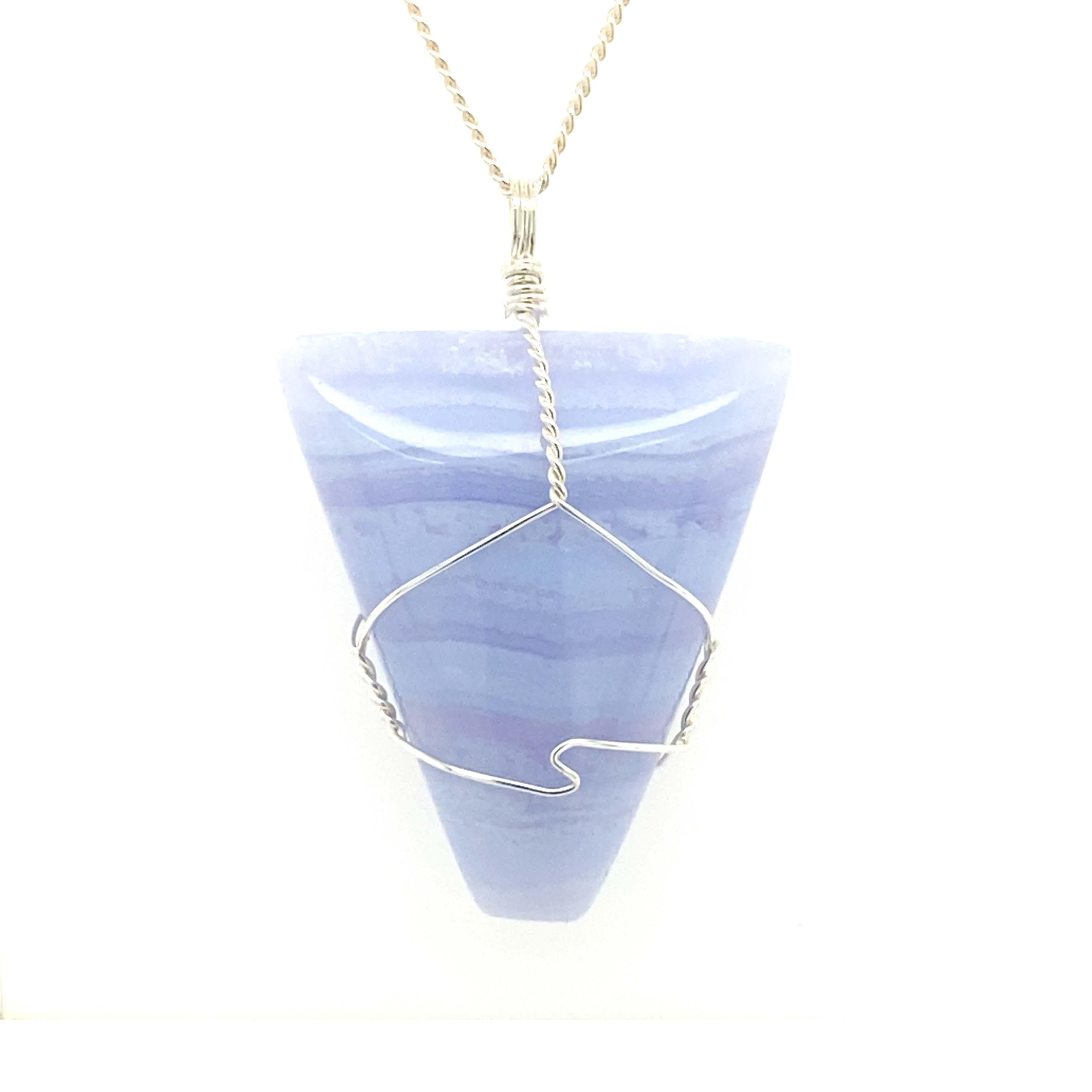 Blue Lace Agate Orb Necklace